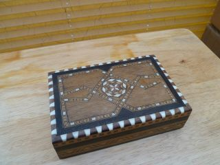 Decorative Inlaid Wooden Box photo