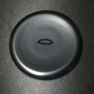 F796: Japanese Lacquer Ware Lid For Water Container Mizusashi Wooden 6.  4 Inch photo
