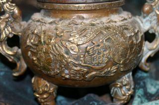 Solid Bronze Buddha Incense Burner photo