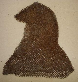 Chain Mail Armour Hood Islamic Indo - Persian? Shield Helmet Axe Arrow Medieval photo