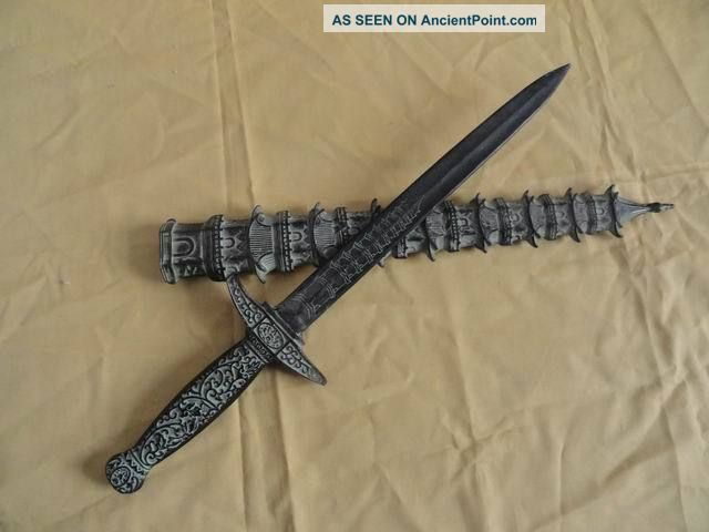 Chinese Bronze Old Tower Sword Exquisite Carved Handle&sheath Fancy Unique 1 Swords photo