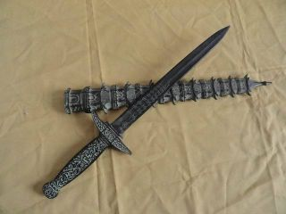 Chinese Bronze Old Tower Sword Exquisite Carved Handle&sheath Fancy Unique 1 photo