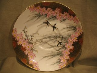 Old Japanese Hand Painted Saucer Signed photo