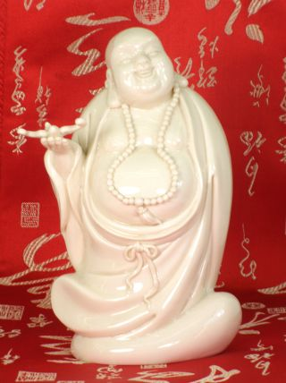 Chinese White Porcelain Happy Buddha photo