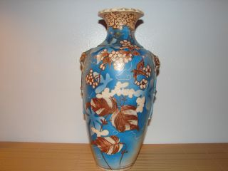 Exceptional Japanese Asian Satsuma Vase Meiji Period Signed 19th Cent Gold Nr photo