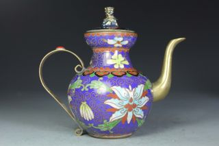 Chinese Old Closinoone Collectibles Decorated Handwork Kirin Tea Pot photo