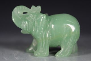 Chinese Handwork Jade Elephant Old Statues photo