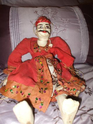 Old Burma / Myanmar Marionette Burmese Puppet Doll With Mustache - Costume - Asian photo