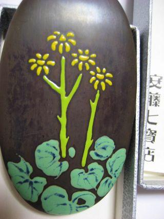 Small Ando Japanese Cloisonne Moriage Enamel Box, photo