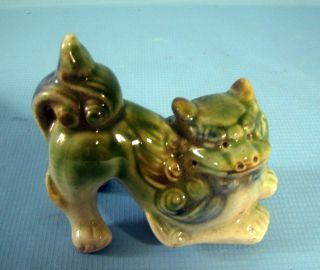 Vintage Ceramic Foo Dog Circa 1900s C photo