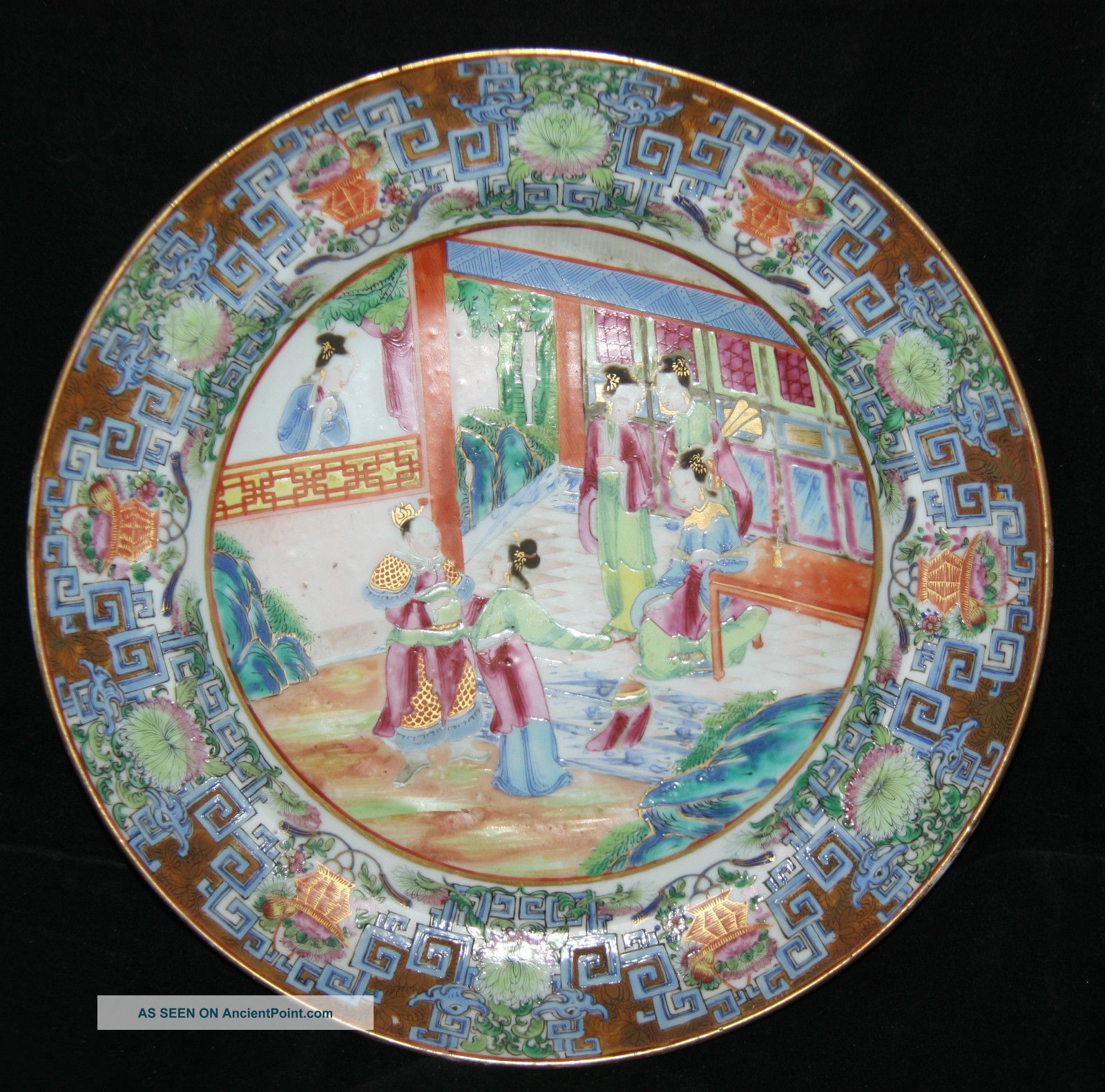 Lovely 19th Century Chinese Famille Vert Enamelled Plate Circa 1860 Plates photo