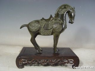 Chinese Tang Bronze Horse Statue 11