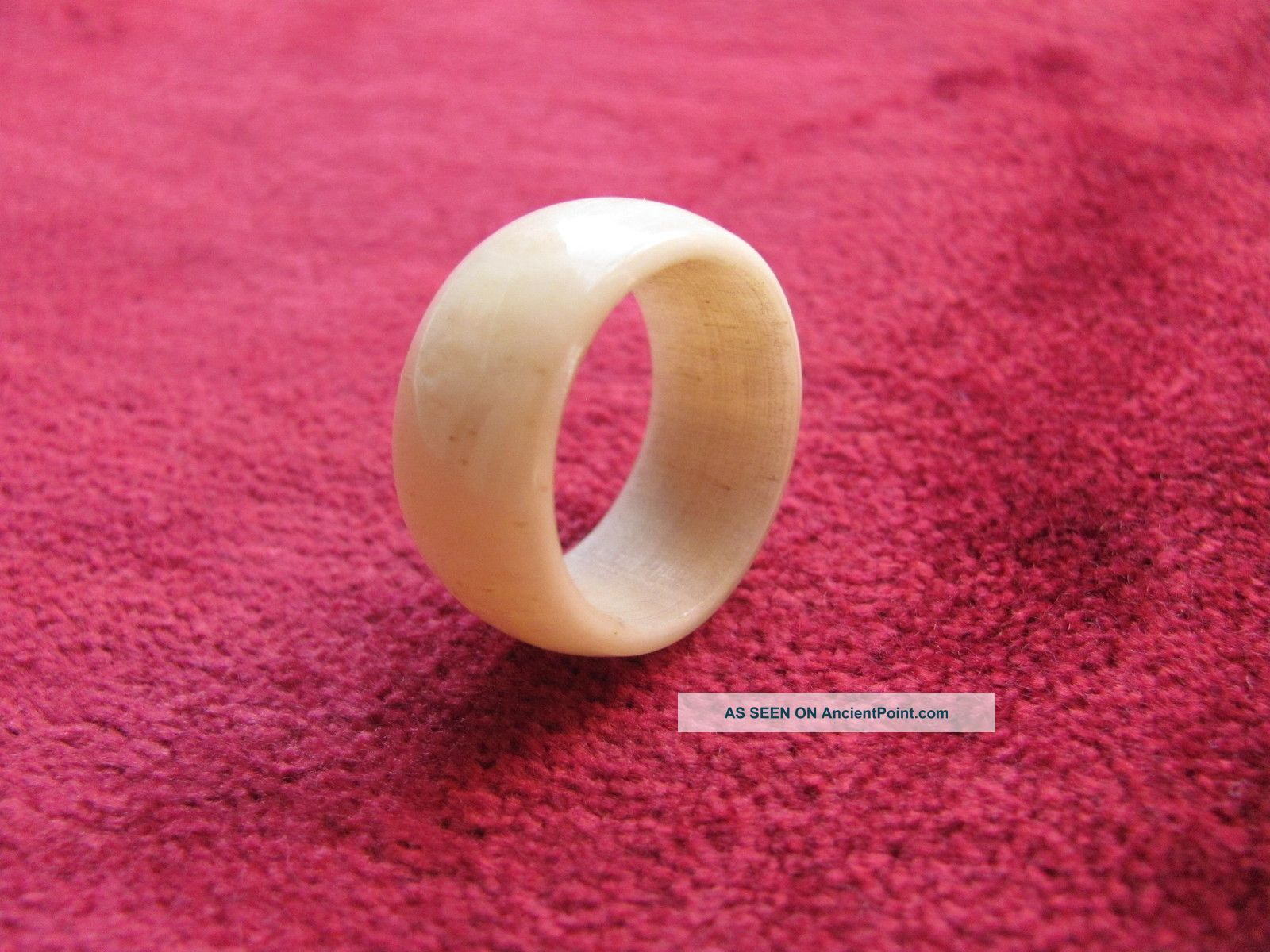 Vintage Carved Ox Bone Wedding Band Ring Chinese Faux Ivory 6. 75 To 7