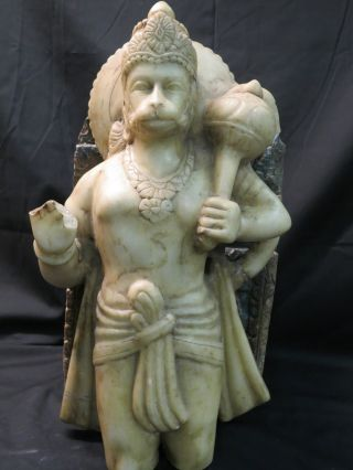 Lord Hanuman,  Large Old Hindu Marble Statue From India photo