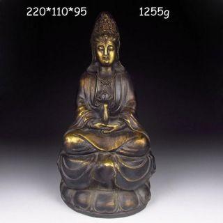 Chinese Bronze Statue - Kwan - Yin W Ming Dynasty Xuande Mark Nr photo