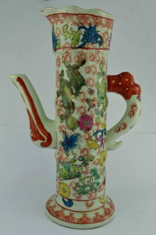 China Collectibles Old Handwork Porcelain Dragon Wonderful Tea Pot ++ photo