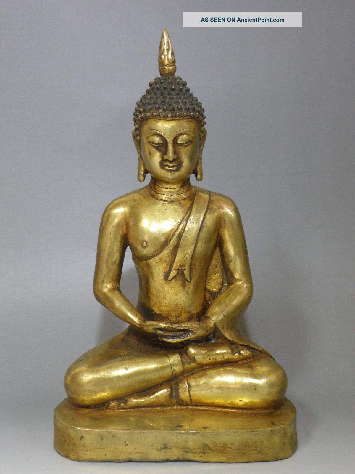 Vintage Copper Crafted Sakyamuni Statue: Seated Buddha Statue Ming Dynasty N507 Buddha photo