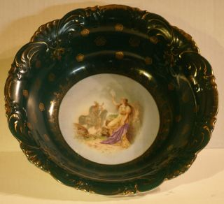 Victorian Porcelain Bowl With Historic Scene photo