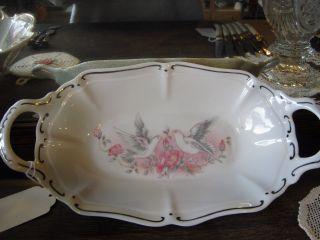 Porcelain Handled Serving Plate 13 1/2