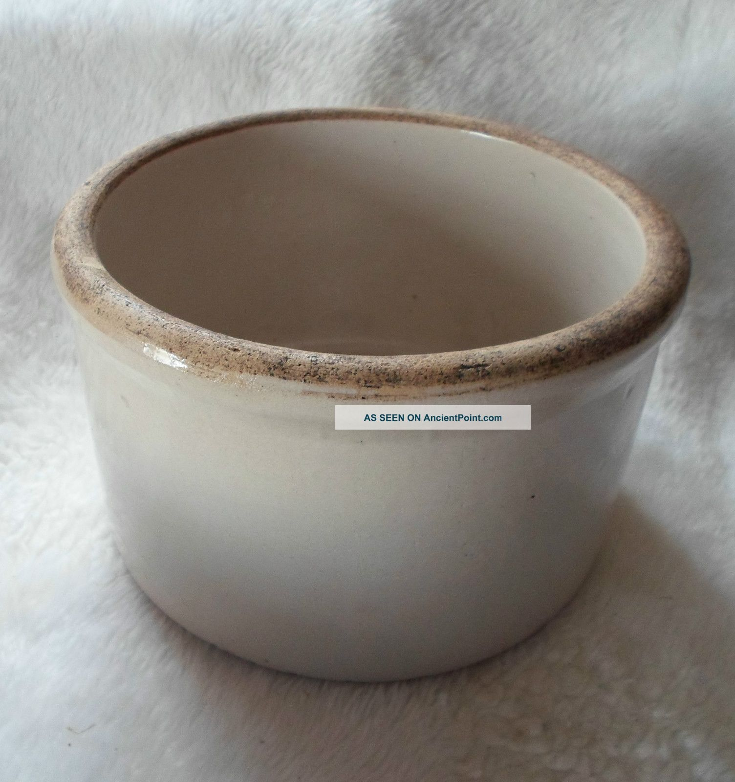 Antique Stoneware Butter Crock
