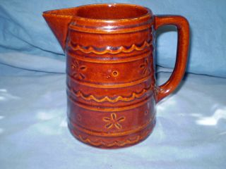 Antique Usa Pottery Pitcher 6 1/4