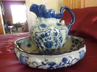 Antique Pitcher And Basin photo
