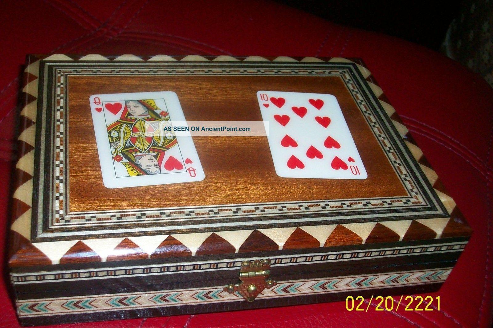 Vintage Playing Card Box Vintage Playing Card Inlaid