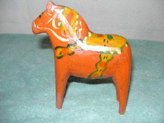 An Old Swedish Dala Horse photo