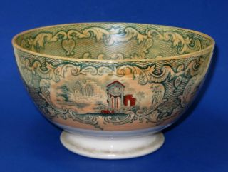 Antique Marigold Luster Abbey Lg.  Bowl Sphinx Pottery Petrus Regout/maastricht photo
