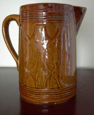 Antique Brown Glazed Pitcher 8