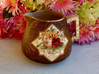 Antique New England Pottery Rieti Pottery Pitcher photo