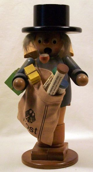 Steinbach Vintage Incense Burner Figurine,  Mailman photo