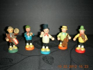 German Band,  Adorable Hand Carved Antique photo