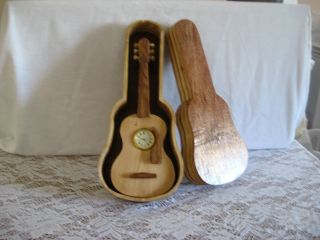 Clock Wood Guitar W/case photo