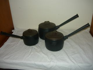 Antique T & C Clark & Co Cast Iron No4 3 Pints Saucepan Pot photo