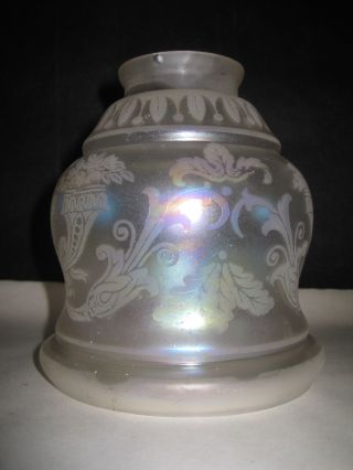 Antique Etched Glass Luster Light Shade photo