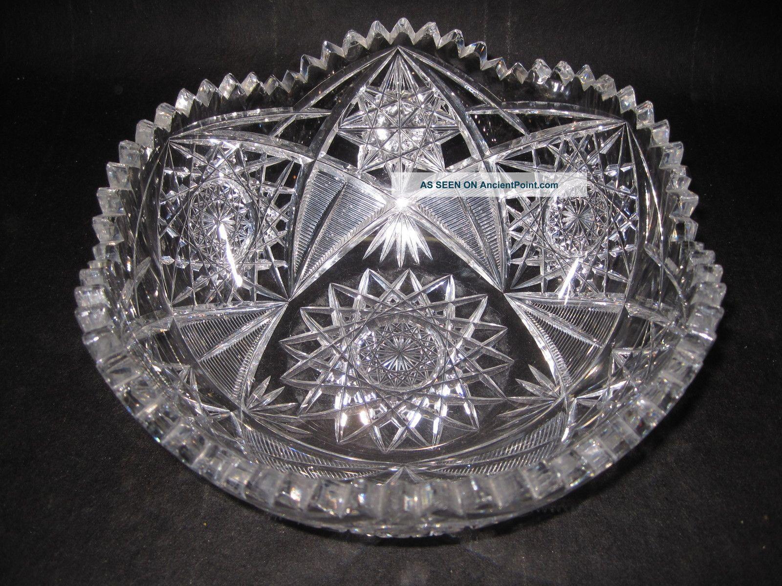 Vintage Cut Glass Bowl 121