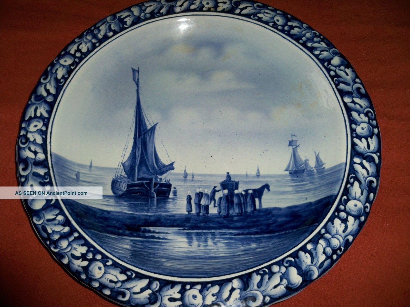 Villeroy Und Boch Mettlach antique wallplate plaque villeroy boch mettlach nr 5241 delft