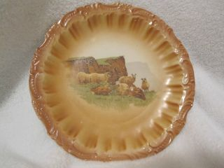 Old Rare Sevres Plate.  Sheep Pattern,  Mint Condition.  So Must See photo