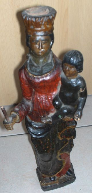 Old Polygrome Black Madonna Statue photo