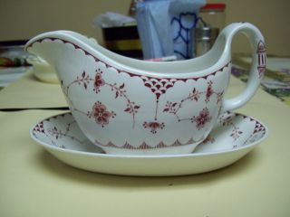 Erica English Ironstone By Franciscan Gravy Bowl And Dish photo