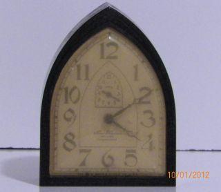 Rare New Haven Artlarm Bakelite Mantel Clock No Breaks Or Cracks photo