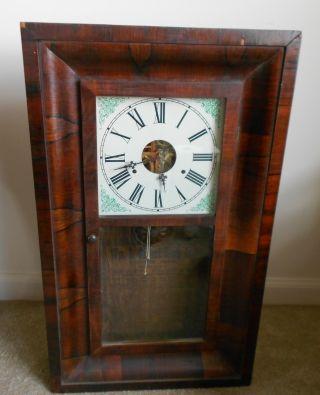 Rare Antique Connecticut Shelf Clock,  1840 - 80, photo