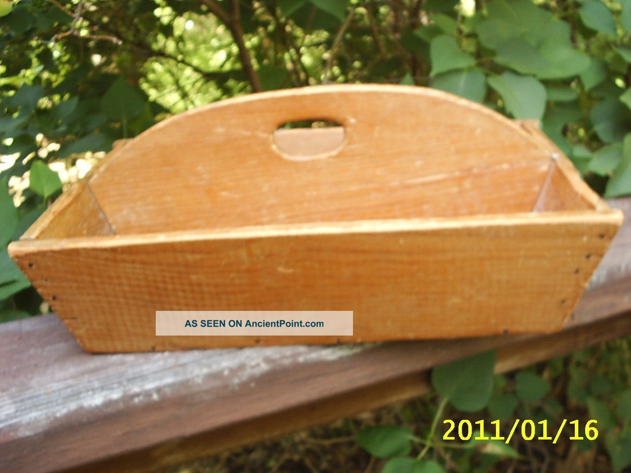 Handmade Vintage Wooden Silverware/flatware Utensil Tray