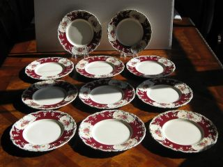 George Jones & Son England 11 Victorian Plates Chelsea Pattern photo