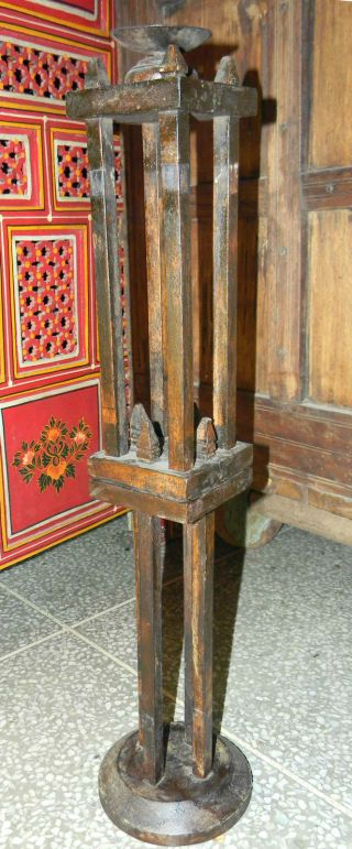 Wooden Folding Adujestable Candle Stand Handicraft Decorative Item photo