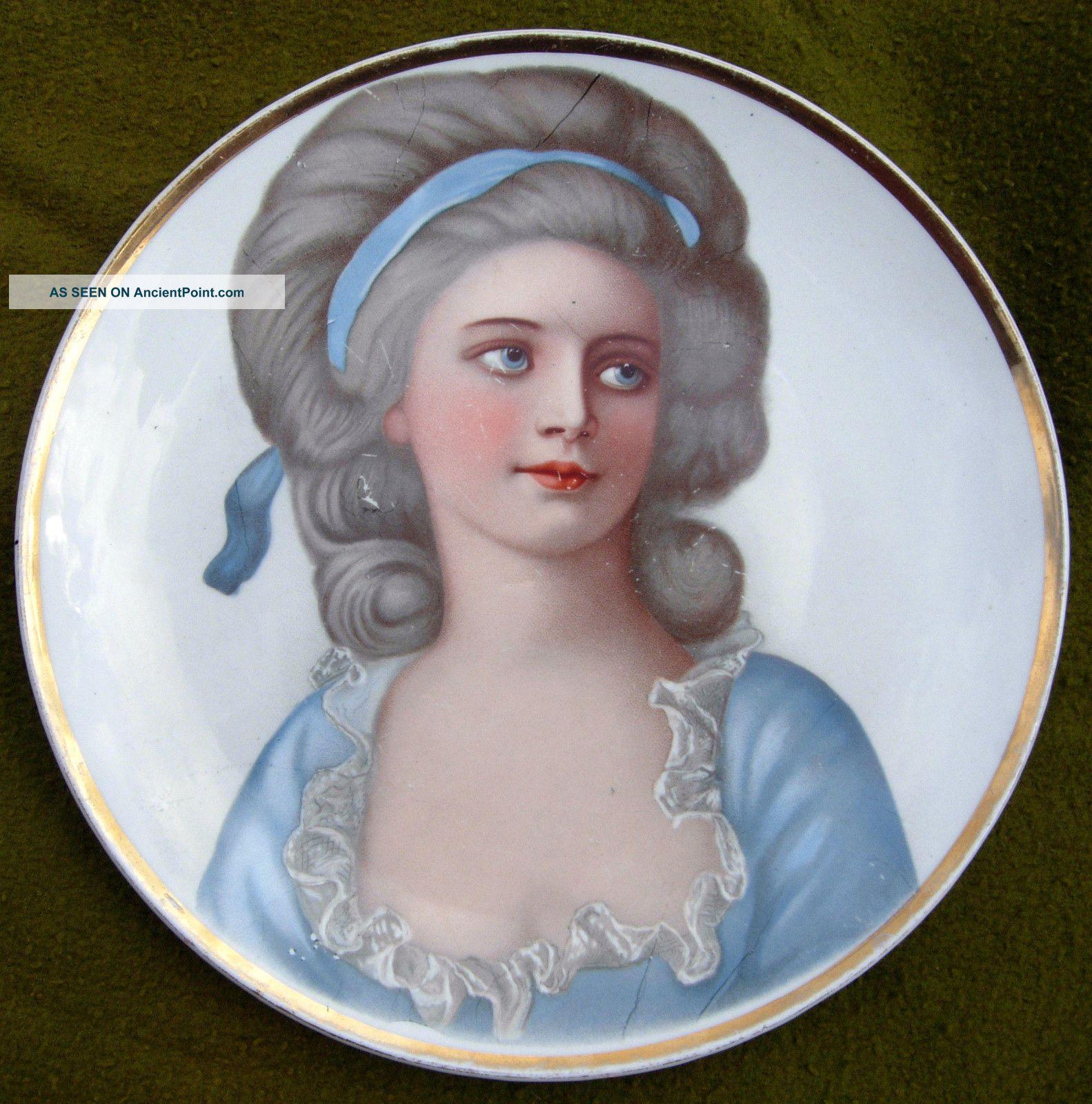 2 Wonderful Portrait Plates Madame Roland Mademoie De  sc 1 st  Image Antique and Candle Victimassist.Org & Antique Portrait Plates - Image Antique and Candle Victimassist.Org