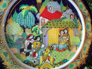 Christmas Collector Plate Bjorn Wiinblad For Rosenthal 1983 - Bargain photo