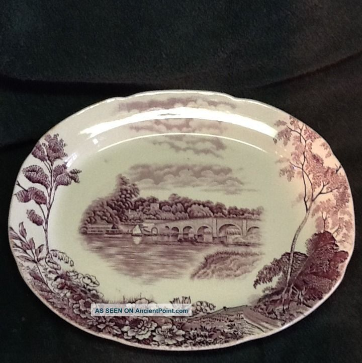 Pountney England Thames Henley Bridge Maroon Platter Platters & Trays photo