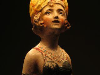 Antique Aphrodite Chalkware Lamp photo